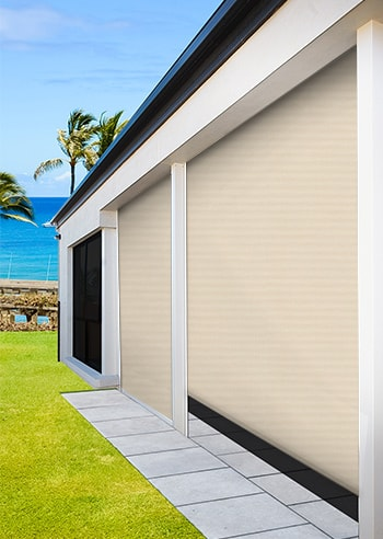 Bondi Eco Sunscreen Alfresco / Patio Outdoor Channel Blinds ...