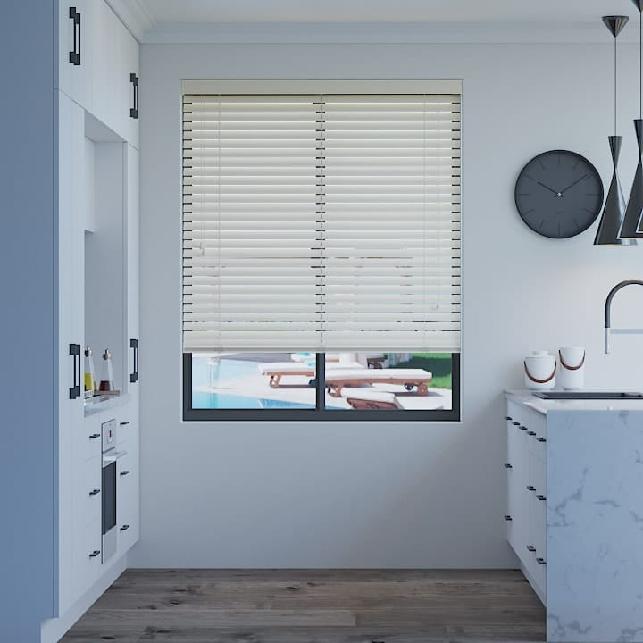 Arctic White 50mm Premium Aluminium Venetian Blinds