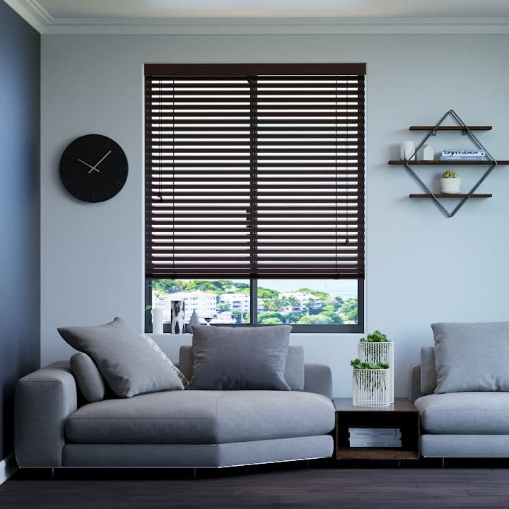 Bright Cocoa 50mm Premium Aluminium Venetian Blinds