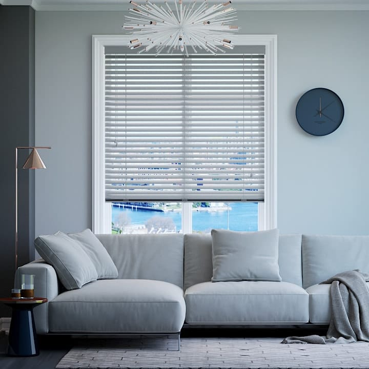 Bright Silver 50mm Premium Aluminium Venetian Blinds