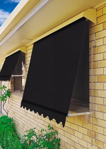 039 Black Docril Blockout Automatic Outdoor Awnings