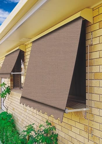 079 Bark Docril Blockout Automatic Outdoor Awnings