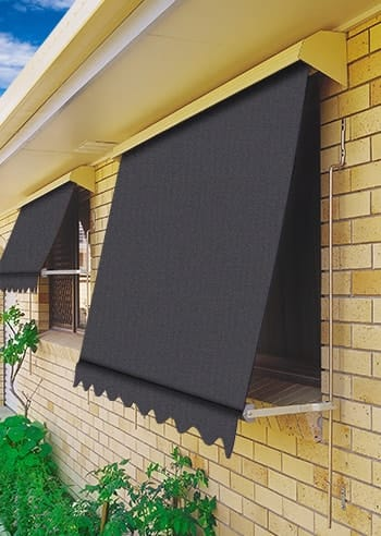 097 Charcoal Docril Blockout Automatic Outdoor Awnings