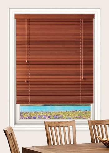 Medium Red Standard Cedar Venetian Blinds