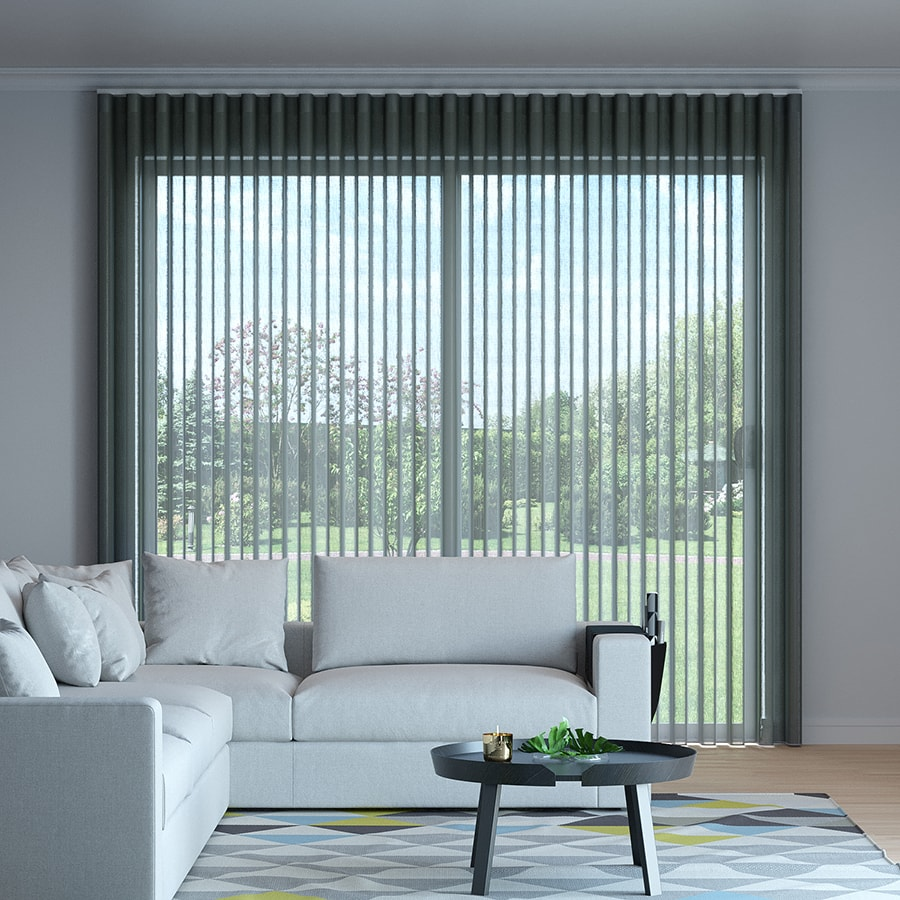 Charcoal Martinique Sheer Curtains