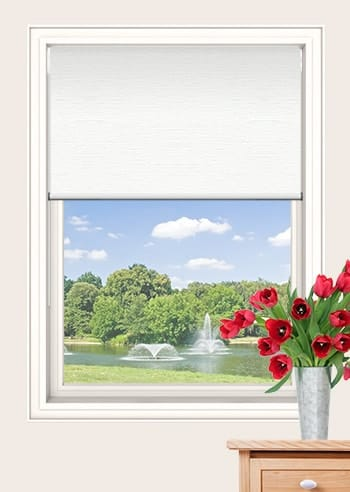 White Balmoral Blockout Double Roller Blinds