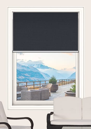 Coal Elite Blockout Double Roller Blinds