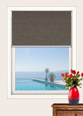 Bronze Lisbon Blockout Double Roller Blinds