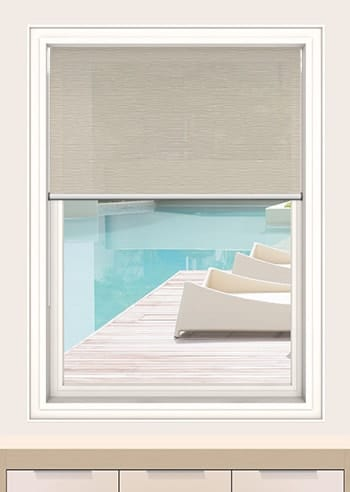 Mushroom Monte Carlo Translucent Double Roller Blinds
