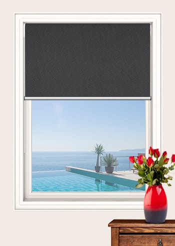 Bokara Grey Paris Blockout Double Roller Blinds