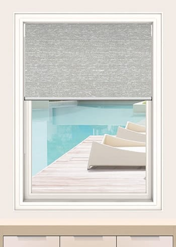 Chalk Quebec Blockout Double Roller Blinds