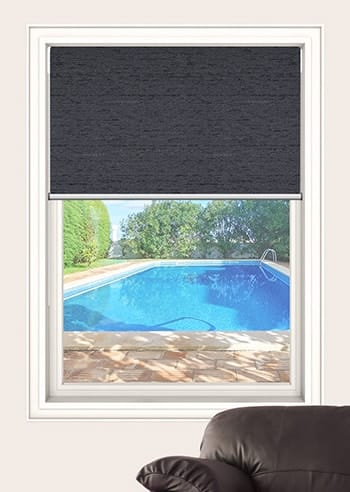 Gunmetal Quebec Blockout Double Roller Blinds