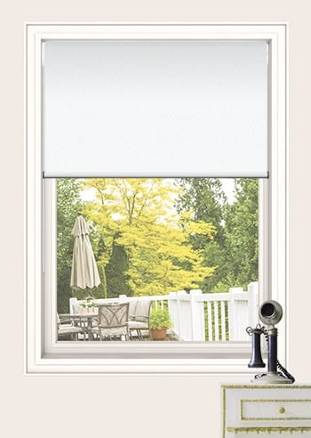 White St Clair Dimout Double Roller Blinds