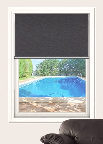 Charcoal Toodyay Blockout Double Roller Blinds