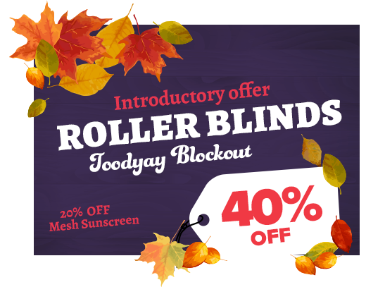 Roller Blinds 50% OFF Lisbon and 30% Sheeree Range.