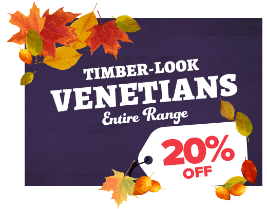 10% OFF Timber-look Venetians