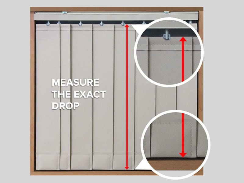 Measuring Vertical Blinds Slat Drop