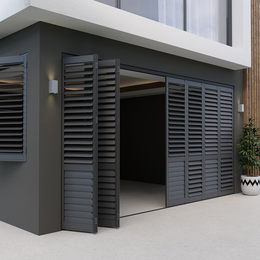 Soot Aluminium Outdoor Shutters