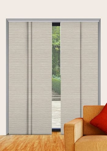 Concrete Balmoral Blockout Panel Glide Blinds