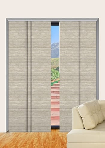 Latte Balmoral Blockout Panel Glide Blinds