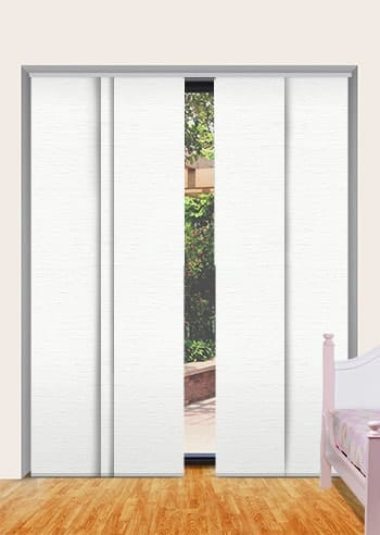 White Balmoral Blockout Panel Glide Blinds