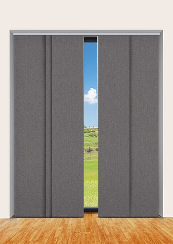 Grey Cai Blockout Panel Glide Blinds