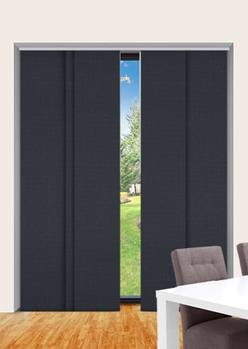 Coal Elite Blockout Panel Glide Blinds