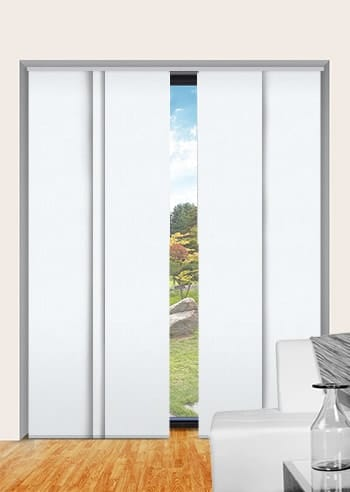 Plaster Madrid Blockout Panel Glide Blinds