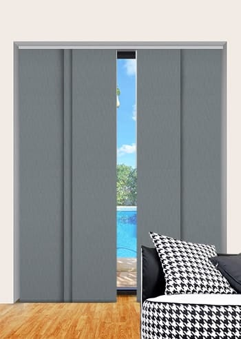 Slate Madrid Blockout Panel Glide Blinds