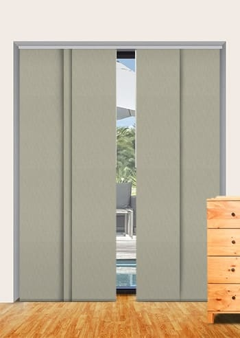 Truffle Madrid Blockout Panel Glide Blinds