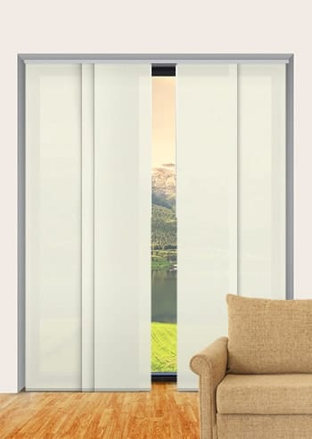 Limestone Madrid Translucent Panel Glide Blinds