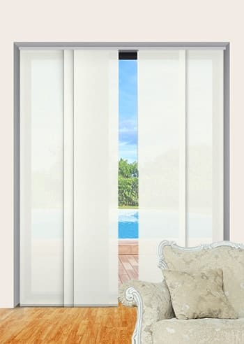 Marble Madrid Translucent Panel Glide Blinds