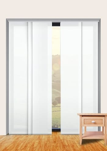 Plaster Madrid Translucent Panel Glide Blinds