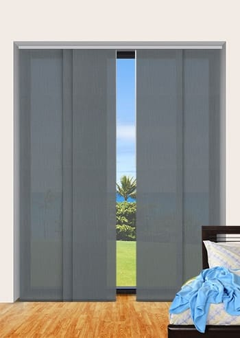 Slate Madrid Translucent Panel Glide Blinds