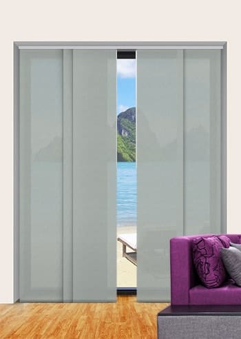 Suede Madrid Translucent Panel Glide Blinds