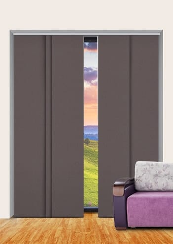 Bronze Metallic Blockout Panel Glide Blinds