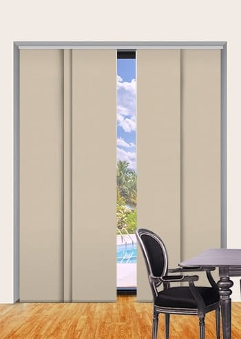 Brushwood Metallic Blockout Panel Glide Blinds