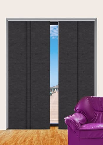 Gravel Monte Carlo Blockout Panel Glide Blinds