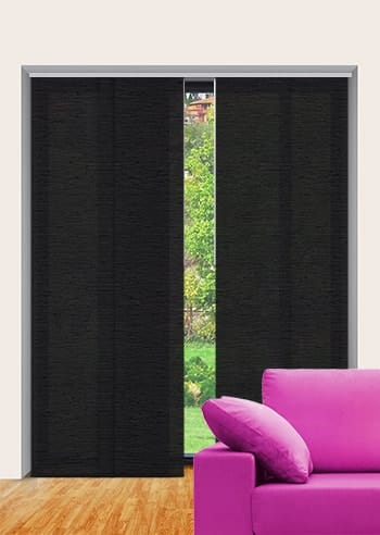 Midnight Monte Carlo Translucent Panel Glide Blinds