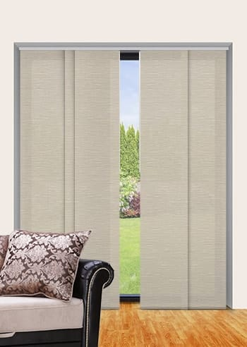 Mushroom Monte Carlo Translucent Panel Glide Blinds