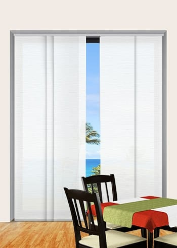 Whisper Monte Carlo Translucent Panel Glide Blinds