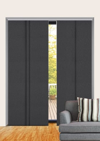 Bokara Grey Paris Blockout Panel Glide Blinds