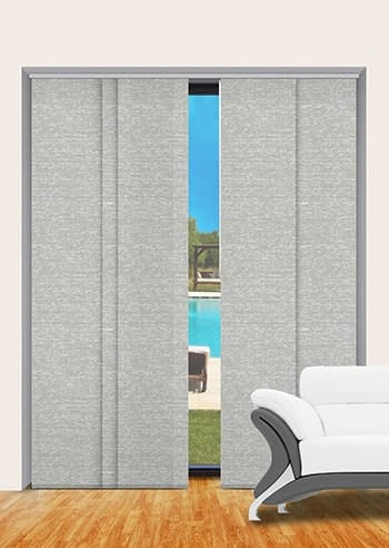 Chalk Quebec Blockout Panel Glide Blinds