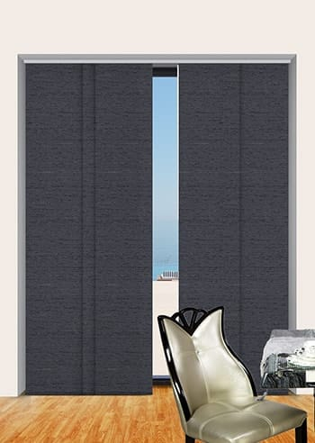 Gunmetal Quebec Blockout Panel Glide Blinds