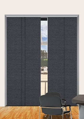Midnight Quebec Blockout Panel Glide Blinds