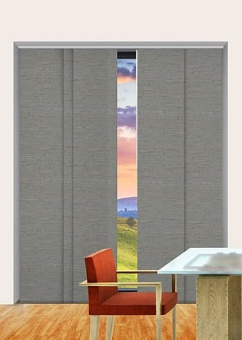 Shale Quebec Blockout Panel Glide Blinds