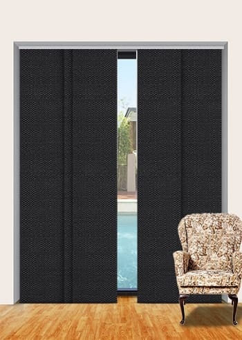 Onyx Santini Blockout Panel Glide Blinds