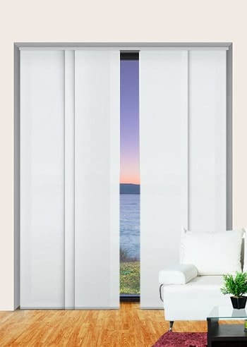 Dove Seville Translucent Panel Glide Blinds