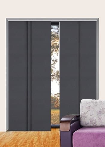 Charcoal St Clair Dimout Panel Glide Blinds