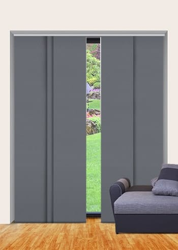 Metal-Grey St Clair Dimout Panel Glide Blinds